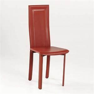 Chaise Salle A Manger Cuir : chaise de salle manger en cro te de cuir tess 4 pieds tables chaises et tabourets ~ Teatrodelosmanantiales.com Idées de Décoration