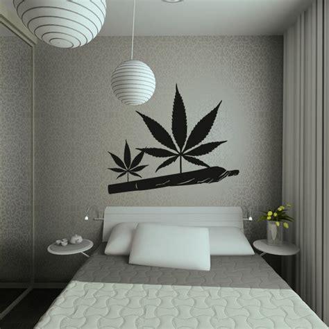 joint marihuanablatt wandtattoo