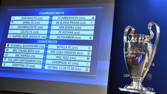 uefa champions league play draw uefa champions league news
