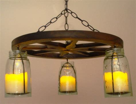 mrww 360258 hanging jar wagon wheel chandelier