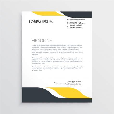 creative letterhead design template vector vector