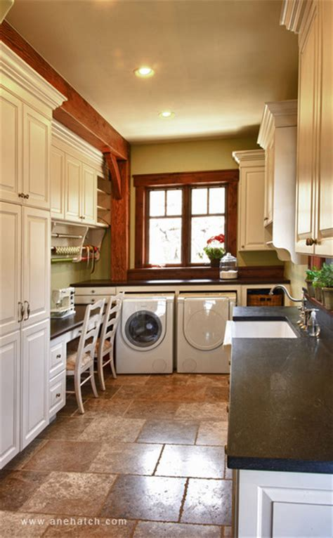 elegant timberframe traditional laundry room salt