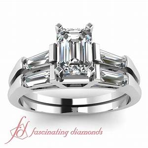 120 ct emerald cut diamond exquisite engagement wedding for Emerald cut wedding ring sets