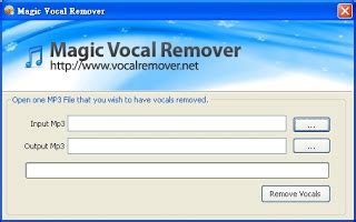 Online mp3 music vocal remover