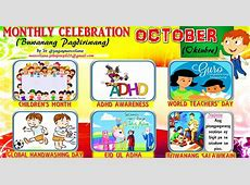 2018 Monthly Celebration with Monthly Motto October