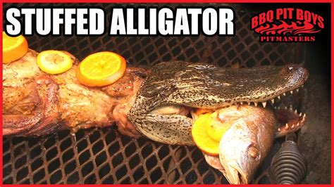 bbq pit sinking attack alligator recipe by the bbq pit boys funnycat tv