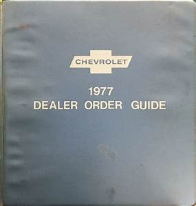 1977 Corvette Factory Assembly Manual Reprint