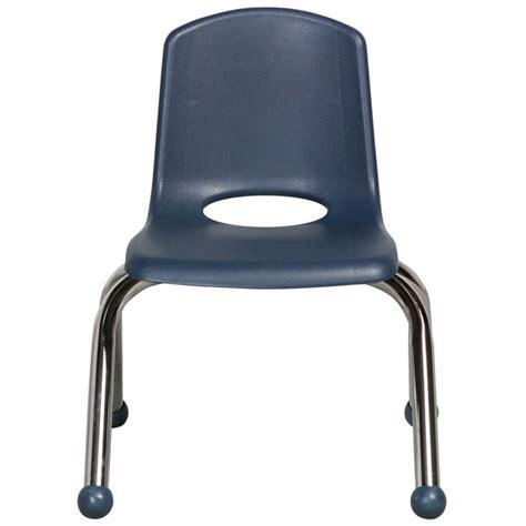 10 quot stackable school chair chrome legs glides