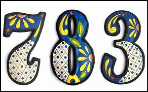 decorative house numbers With decorative metal letters and numbers