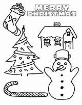 Coloring Christmas Pages Printable Cards Party sketch template