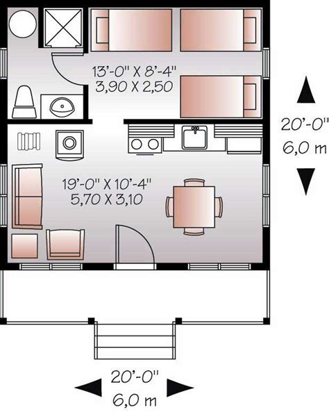small cabin with loft floor plans small house plan tiny home 1 bedrm 1 bath 400 sq ft