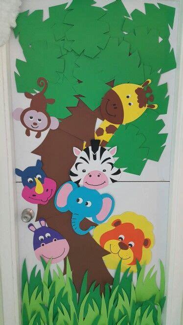 jungle animals preschool classroom door zoo animals theme rashroush 132