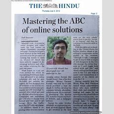 "Article About My Bro In Today's ""the Hindu"" Newspapervbforums"