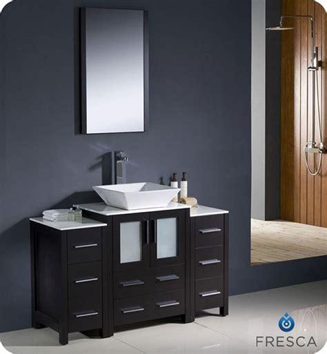 48 inch vessel sink vanity fresca torino single 48 inch modern bathroom vanity