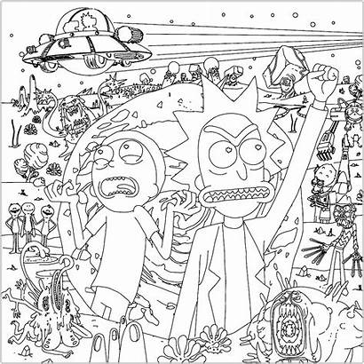 Morty Rick Coloring Pages