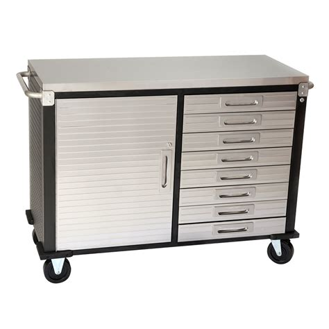 48 Inch Cabinet by 48 Inch 8 Drawer Stainless Steel Top Roll Cabinet From