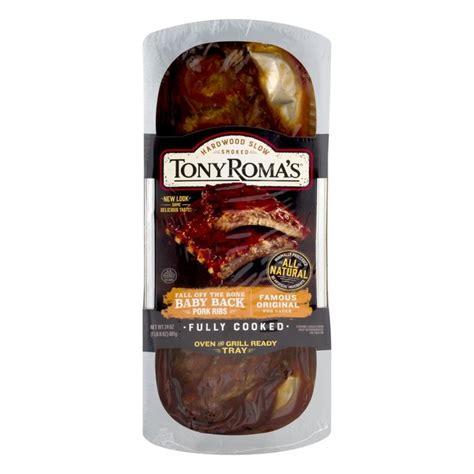 Tony Roma's Fully Cooked Baby Back Pork Ribs Famous ...