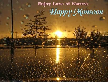 Monsoon Happy Enjoy Nature Rainy Season Rain
