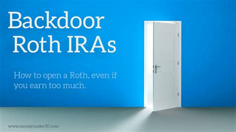 back door roth ira how to open a roth ira