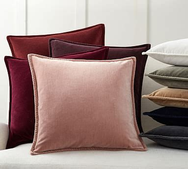 Pillow Slipcovers by Washed Velvet Pillow Covers Pottery Barn