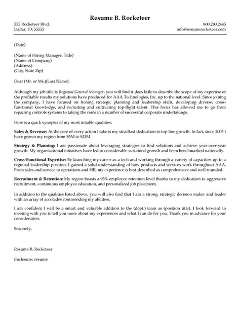 Best Cover Letters Sles The Best Cover Letter One Executive Writing Resume Sle Writing Resume Sle