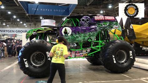 grave digger monster truck youtube grave digger monster truck leaving minexpo 2016 youtube
