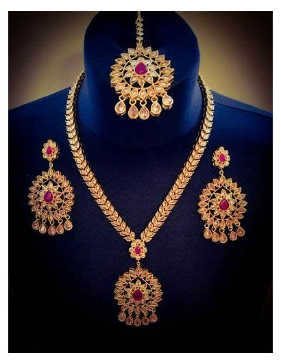 Indian Bridal Gold Jewellery Necklace Earrings Plated