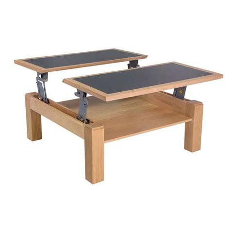 Table Basse Carrée Modulable En Céramique Et Bois