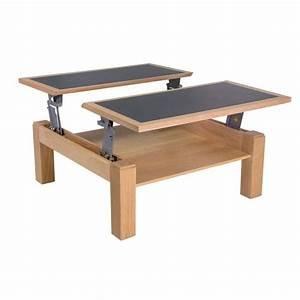 Table Basse Carrée En Bois : table basse carr e modulable en c ramique et bois ~ Teatrodelosmanantiales.com Idées de Décoration