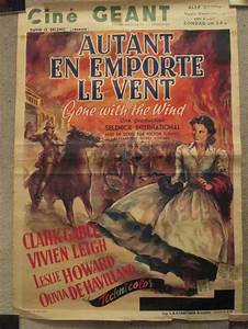 Gone with The Wind Original 1939 Belgian Movie Poster ...