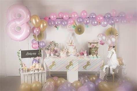 anniversaire dheaven huit ans theme licorne pastel