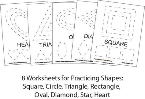 tracing shapes worksheets for preschool pdf preschool shape tracing worksheet pdf printables etsy