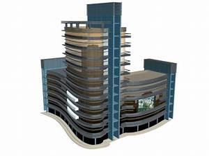 City commercial building 3d model 3dsMax files free ...