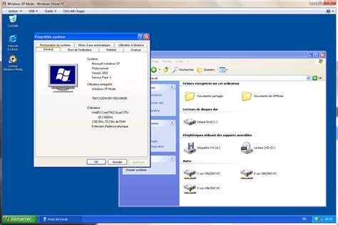 bureau virtuel windows 7 windows 7 la rc du mode xp virtuel est disponible