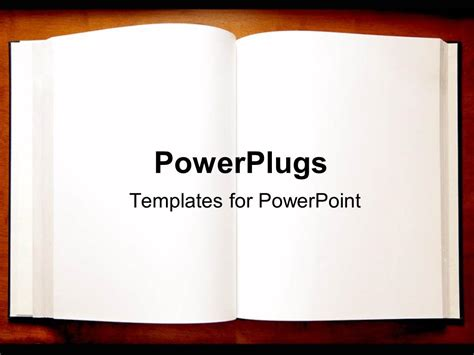 powerpoint template  open book  blank pages