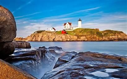 Maine Lighthouse Wallpapers Desktop York Coast Seascape