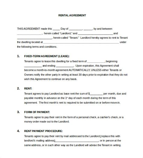 lease template word 17 lease template doc pdf free premium templates