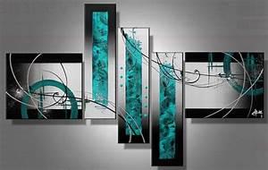 Toile Peinture Pas Cher : tableaux abstrait pas cher ~ Mglfilm.com Idées de Décoration