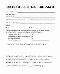 sample real estate form 16 free documents in pdf With offer to purchase contract template