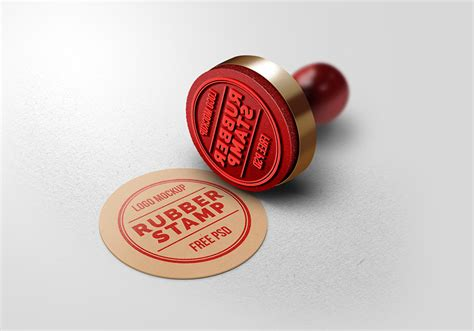 rubber stamp logo mockup graphicsfuel