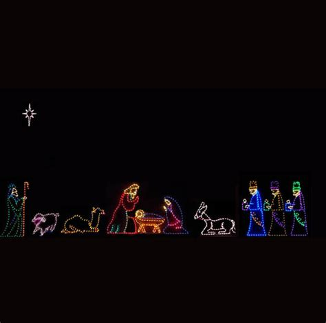 led lighted nativity images