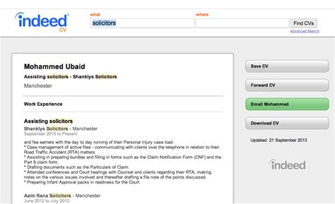Indeed Find Resumes by How To Find Free Cvs On Indeed And Contact Them