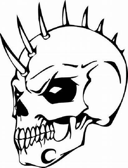 Coloring Pages Skull Skulls Printable Drawing Stencil