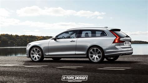 volvo  shooting brake rendering shows  beautiful