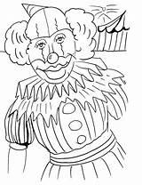 Clown Coloring Printable Face Happy Sad Template Popular sketch template