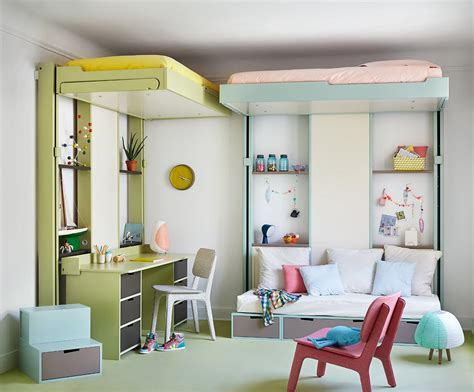 canapé lit chambre ado cuisine chambre ado fille douce et avec lit coffres