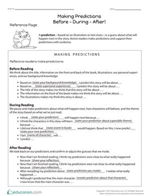 asking questions before during and after worksheet education
