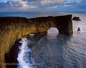 Basaltic ark of Dyrhólaey Iceland