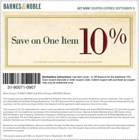 barnes and noble email coupon barnes and noble coupon thread page 6 dvd talk forum
