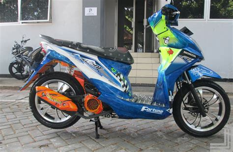 Foto Modifikasi Beat New by 20 Gambar Modifikasi Motor Honda Beat Standar Kumpulan
